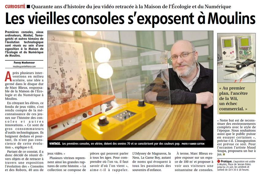 Consoles et Robots Journal La Montagne